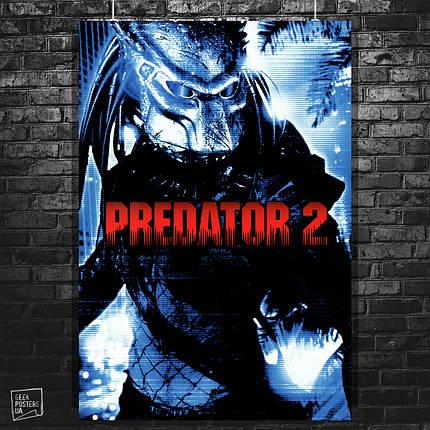 """Постер """"Хищник 2 / Predator 2"""", ретропостер к фильму (1990). Размер 60x42см (A2). Глянцевая бумага, фото 2"""
