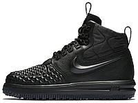 Женские кроссовки Nike Lunar Force 1 Duckboot  17 Premium (Найк Лунар Форс)  черные 727f4612beda0