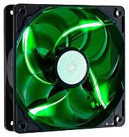 Вентилятор CoolerMaster SickleFlow 120 Green LED  (R4-L2R-20AG-R2), 120х120х25 мм, 3pin, черный