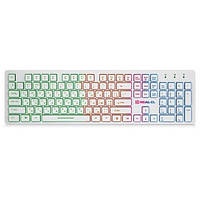 Клавіатура USB мультимедійна REAL-EL 7070 Comfort Backlit White (7070 Comfort Backlit, white (REAL-EL))