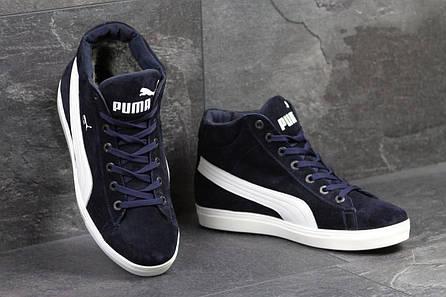 2bee82d706a9 Мужские зимние кроссовки Puma Suede (р.40-45). артикул 6583 темно синие