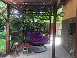 Гойдалка кокон двомісна фіолетова, фото 4