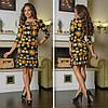 Платье с воланами на юбке, на груди завязки  / 2 цвета арт 7217-544, фото 2