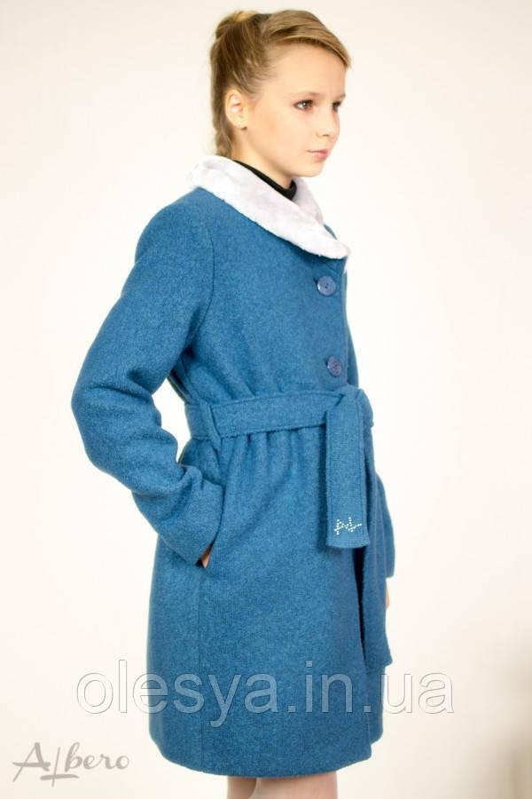 Пальто шерстяное демисезонное для девочек ТМ Albero (Альберо) Размеры 128- 152