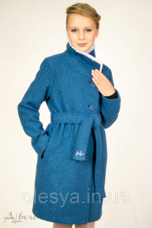 Пальто шерстяное демисезонное для девочек ТМ Albero (Альберо) 7017 Размеры 128- 140