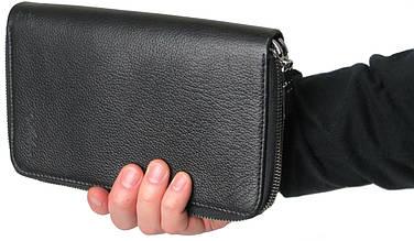 Кожаный клатч кошелек барсетка Mykhail Ikhtyar 6003 чёрный