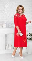 Платье Ninele-2175 белорусский трикотаж, красный, 54