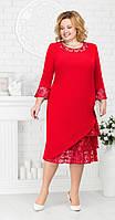 Платье Ninele-2182 белорусский трикотаж, красный, 54