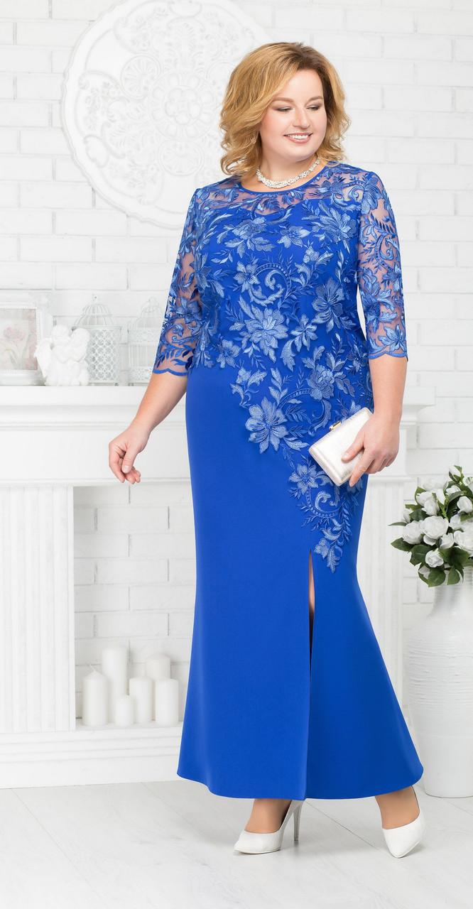 Платье Ninele-5661/2 белорусский трикотаж, василек, 54