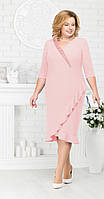 Платье Ninele-7211/2 белорусский трикотаж, пудра, 54