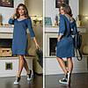 Платье  с карманами, с люрексом, свободного кроя / 3 цвета арт 7231-544, фото 2