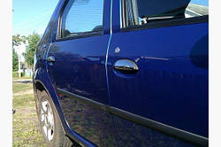 Накладки на ручки OmsaLine (4 шт, нерж.) - Dacia Logan I 2005-2008 гг.