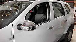 Накладки на зеркала Carmos (2 шт) - Dacia Logan I 2005-2008 гг.