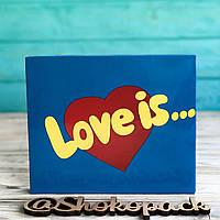 20 плиток молочного шоколада XL  «Love is» Рус, фото 1