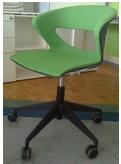 Кресло офисное Kicca Италия пластик серый