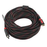 Кабель HDMI-HDMI 10м папа-папа 2 феррита