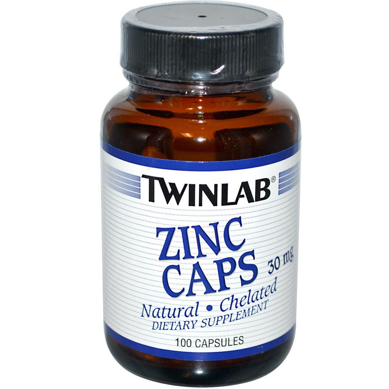Минералы Twinlab ZINC Caps 100 caps, Твинлаб Цинк 100 капсул