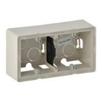 Двухместная коробка для накладного монтажа - 160 x 89 x 448 мм - Valena Life - слоновая кость