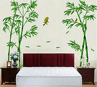 """Декоративные наклейки на витрину, наклейка в детскую, наклейки на шкаф 295см*165см """"бамбук"""" (2листа 60*90см)"""