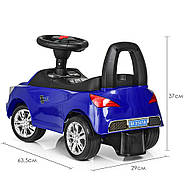 Каталка-толокар для малышей с магнитолой BAMBI M 3147A(MP3)-4 AUDI прорезиненные колеса, фото 4