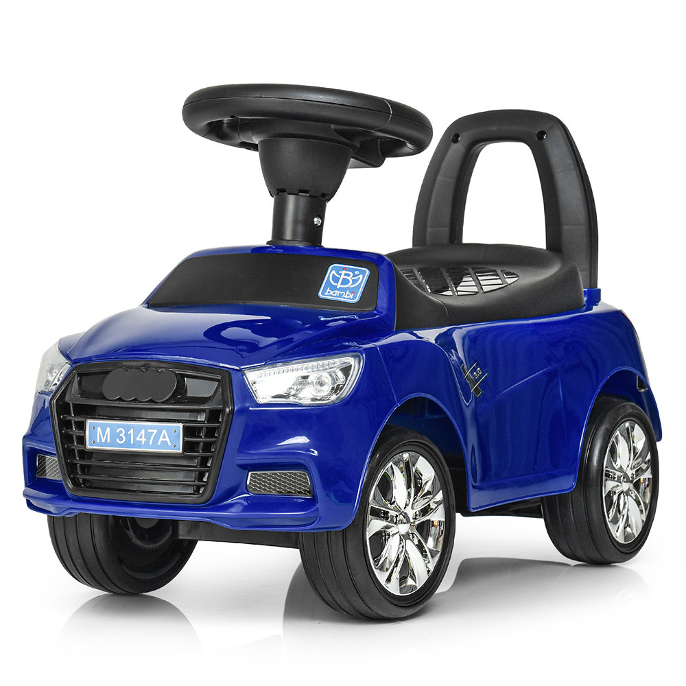 Каталка-толокар для малышей с магнитолой BAMBI M 3147A(MP3)-4 AUDI прорезиненные колеса