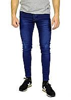 Синие молодежные джинсы скини DSQUARED, фото 1