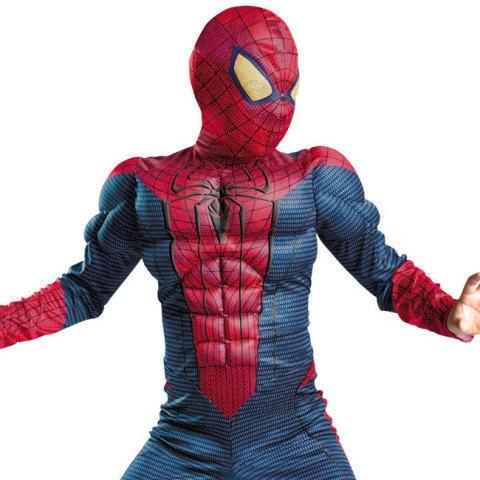 Костюм человека-паука с мускулами карнавальный новогодний темный L M S