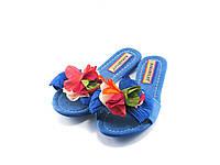 Женские тапочки синие. Артикул 04005