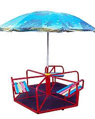 Карусель детская с зонтом, 6-местная.