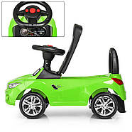 Каталка-толокар для малышей с магнитолой BAMBI M 3147B(MP3)-5 BMW прорезиненные колеса, фото 2