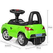 Каталка-толокар для малышей с магнитолой BAMBI M 3147B(MP3)-5 BMW прорезиненные колеса, фото 3