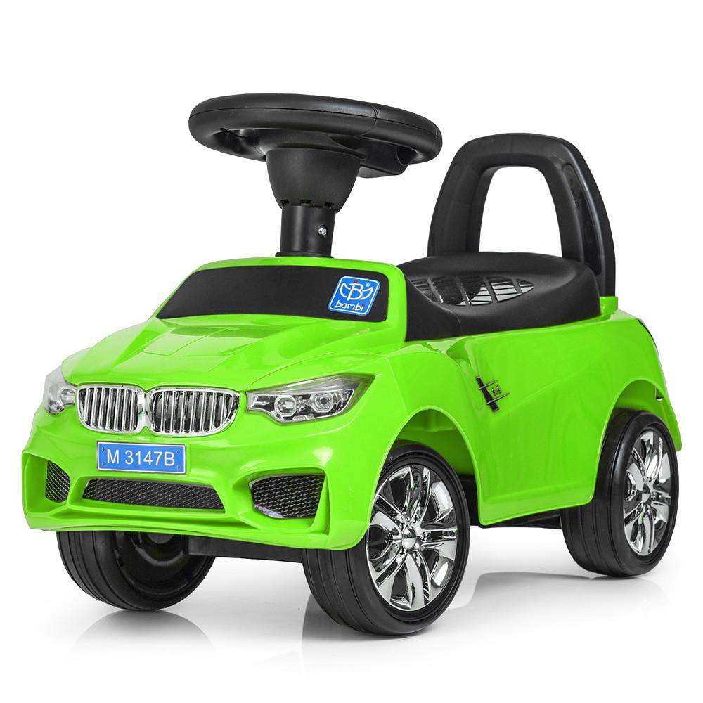 Каталка-толокар для малышей с магнитолой BAMBI M 3147B(MP3)-5 BMW прорезиненные колеса
