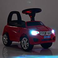 Каталка-толокар для малышей с магнитолой BAMBI M 3147B(MP3)-6 BMW прорезиненные колеса, фото 2