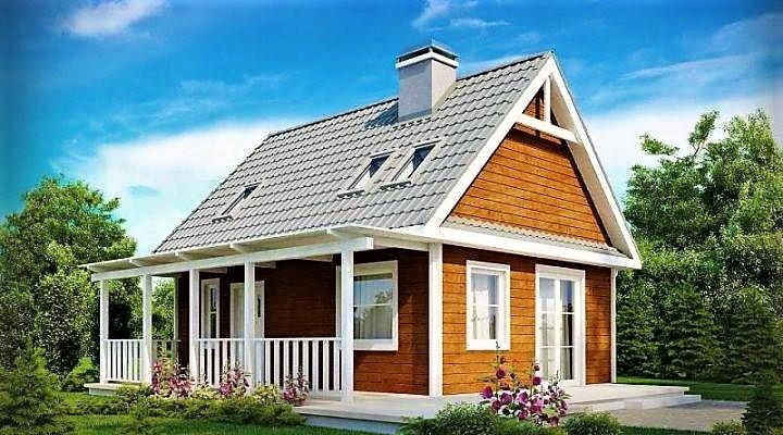 Дом из профилированного клееного бруса 7х9 м