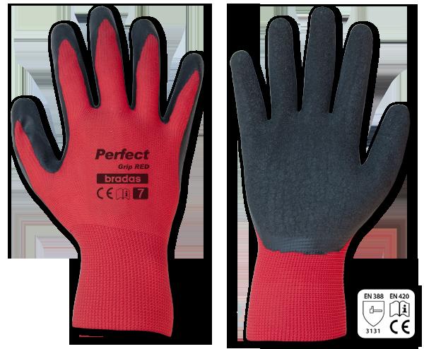 Рукавиці захисні Bradas PERFECT GRIP RED латекс