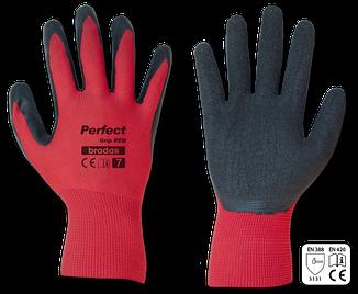 Рукавички захисні Bradas PERFECT GRIP RED латекс р. 8