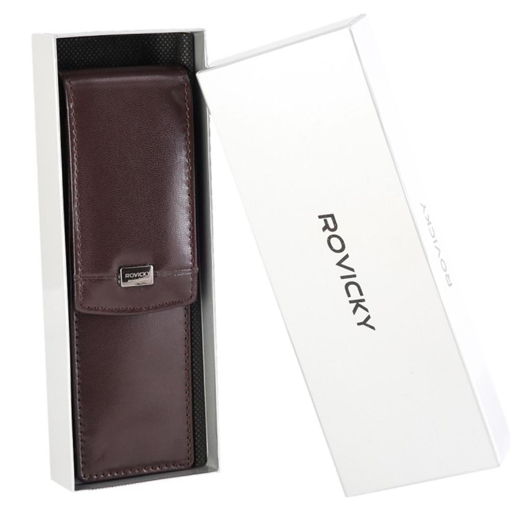 Футляр для ручек кожаный Rovicky CPR-042 brown