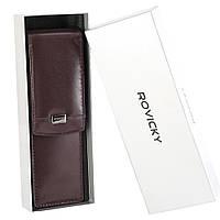 Футляр для ручек кожаный Rovicky CPR-042 brown, фото 1