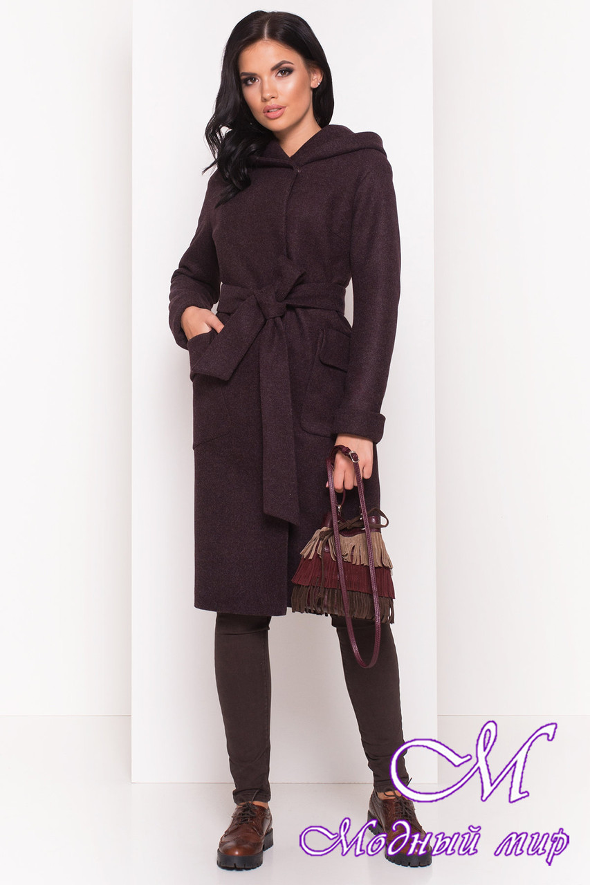 Кашемировое женское пальто осень весна (р. S, M, L) арт. Анджи 5470 - 36731