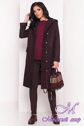 Кашемировое женское пальто осень весна (р. S, M, L) арт. Анджи 5470 - 36731, фото 2