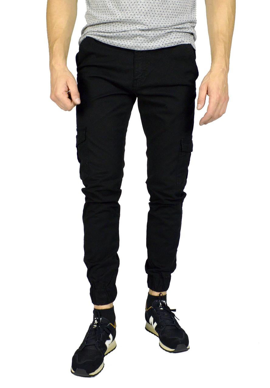 4cad273f306 Черные мужские джинсы с манжетами TRIPTONIK DENIM  продажа