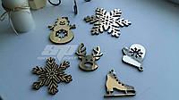 Снежинки из пенопласта, фанеры, дерева. Заготовки из фанеры, новогодние игрушки, новогодний декор, декорации, фото 1