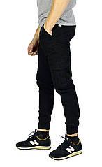 Черные мужские джинсы с манжетами TRIPTONIK DENIM