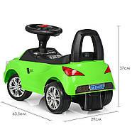 Каталка-толокар для малышей с магнитолой BAMBI M 3147C(MP3)-5 Mercedes прорезиненные колеса, фото 2