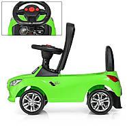Каталка-толокар для малышей с магнитолой BAMBI M 3147C(MP3)-5 Mercedes прорезиненные колеса, фото 3