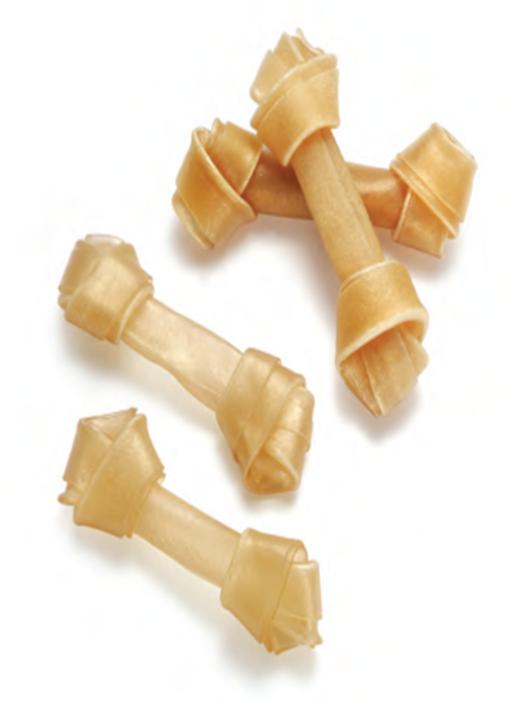 """Натуральная узловая кость лакомство для собак 11 см, 4-4,5"""" 30-35гр"""