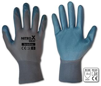 Рукавички захисні Bradas NITROX GRAY нітрил р. 9