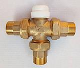 Термостатический 3-ходовой зонный клапан с функцией разделения и смешения потока (3/4)+термоголовка c датчиком, фото 3