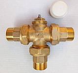 Термостатический 3-ходовой зонный клапан с функцией разделения и смешения потока (3/4)+термоголовка c датчиком, фото 7