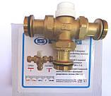 """Термостатический 3-ходовой зонный клапан с функцией разделения и смешения потока (1"""")+термоголовка с датчиком, фото 2"""